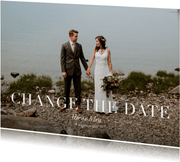 Change the date annuleringskaart grote foto en tekst