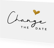 Change the datekaart met goud hartje