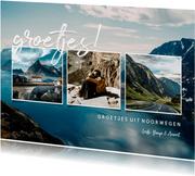 Collagekaart 'groetjes!' met fotocollage