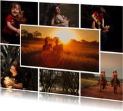 Collagekaart liggend sjabloon met 7 foto's
