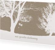 Condoleancekaart Bomen Wit