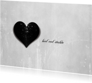 Condoleancekaart Zwart Hart