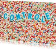 CONTROLE gemaakt van suikerletters