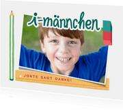 "Dankeskarte mit Lettering ""i-Männchen"""