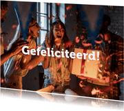 De Koperwiek Felicitatiekaart met confetti