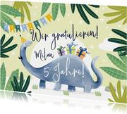 Dinosaurier Geburtstagskarte