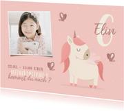 Einladung Kindergeburtstag mit Foto und Einhorn