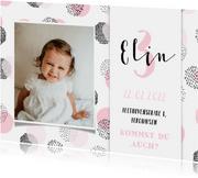Einladung Kindergeburtstag mit Konfetti und Foto