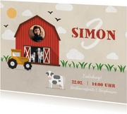 Einladung zum Kindergeburtstag Bauernhof mit Kühen