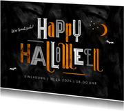 Einladung zum Kindergeburtstag Happy Halloween