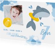 Einladung zum Kindergeburtstag Schwimmen Hai