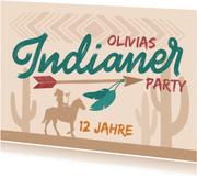 Einladung zur Indianer-Party - Kindergeburtstag