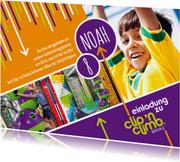 Einladungskarte Kindergeburtstag Clip 'n Climb Mainz