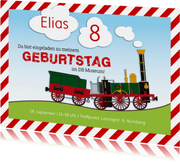 Einladungskarte Kindergeburtstag DB Museum Adler