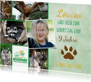 Einladungskarte Wildpark Johannismühle