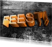 Uitnodigingen - Feest 3D stoer