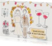Felicitatie Huwelijk Illustratie