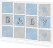 felicitatiekaart voor een baby jongen