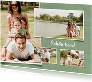 Foto-Postkarte mit vier Fotos