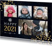 Foto-Weihnachtskarte mit 5 Fotos und Jahreszahl