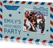 Fotoeinladung zur Party Air Mail