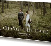 Fotokaart change the date met grote foto