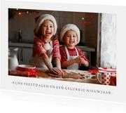 Fotokaart kerstmis met 1 grote foto en aanpasbare tekst