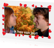 Fotokaart Liefde Ik Hou Van Jou