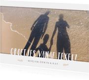Fotokaart liggend met 1 grote foto en ruimte voor tekst.