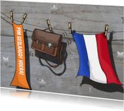 Fotokaart sloophout vlag geslaagd