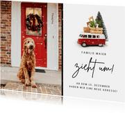 Fotokarte Adressänderung zu Weihnachten