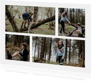 Fotokarte Collage vier Fotos