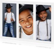 Fotokarte drei Fotos Hochformat