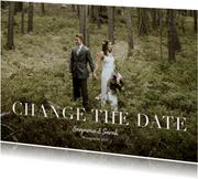 Fotokarte Terminänderung 'Change the Date'