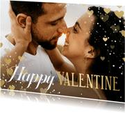 Fotokarte Valentinstag mit Herzen