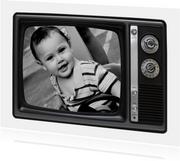 Fotokarte Vintage Fernseher schwarzweiß