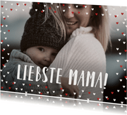 Fotokarte zum Muttertag großes Foto & Herzrahmen