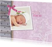 Geboorte lief stoer foto roze