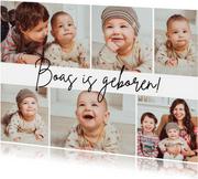 Geboortekaartje fotocollage 6 foto's