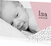 Geboortekaartje grafisch met foto