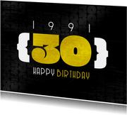 Geburtstagskarte 30 Happy Birthday