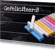 Geslaagd gefeliciteerd schoolbord - OT