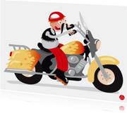 Geslaagd kaart motor rijbewijs met humor