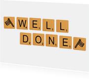 Geslaagd Scrabble Well Done