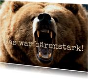 Glückwunschkarte bärenstarke Leistung