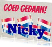 Goed gedaan Nicky, nl vlag
