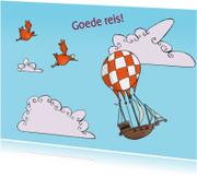 Vakantiekaarten - Goede reis met luchtschip