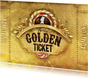 Kaarten mailing - Golden ticket goud