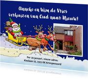 Grappige verhuiskaart voor rond de kerst- en feestdagen