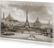 Groeten uit Parijs - sepia -